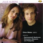 Julie Albers - Cello, Orion Weiss - Paino
